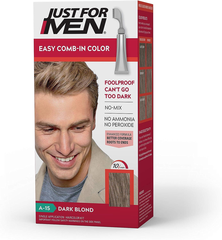 Just for Men Proprio per gli uomini di autostop uomini Comb-in Colore dei capelli, biondo scuro