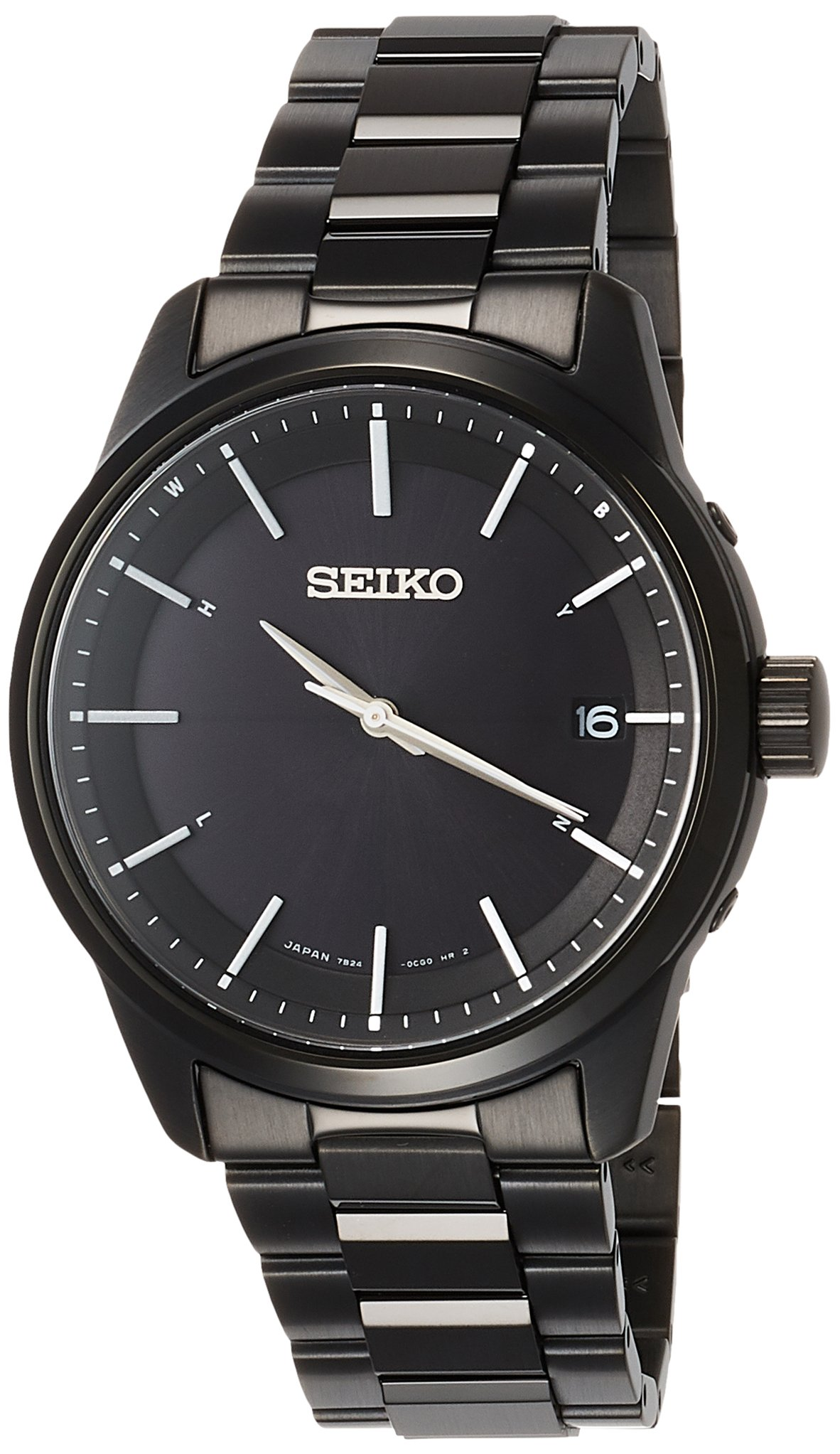 SEIKO SELECTION Watch Basic Solar Radio Stainless Steel Model SBTM257 Men's black