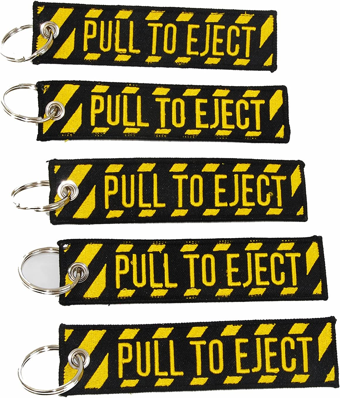 OZ-USA 10 Pull to Eject Key Chain Aviation ATV utv Motorcycle Pilot Crew tag Lock 4X rv