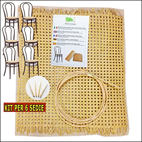 Kit para reparación, sustitución, recambio, para sillas de paja