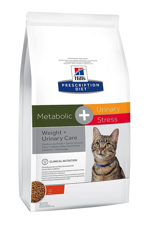 Hill's Prescription Diet Feline Gestion du Poids & Santé Urinaire Stress Nourriture pour Chat Croquettes 1,5kg - Lot de 2 Hill's 0052742008677