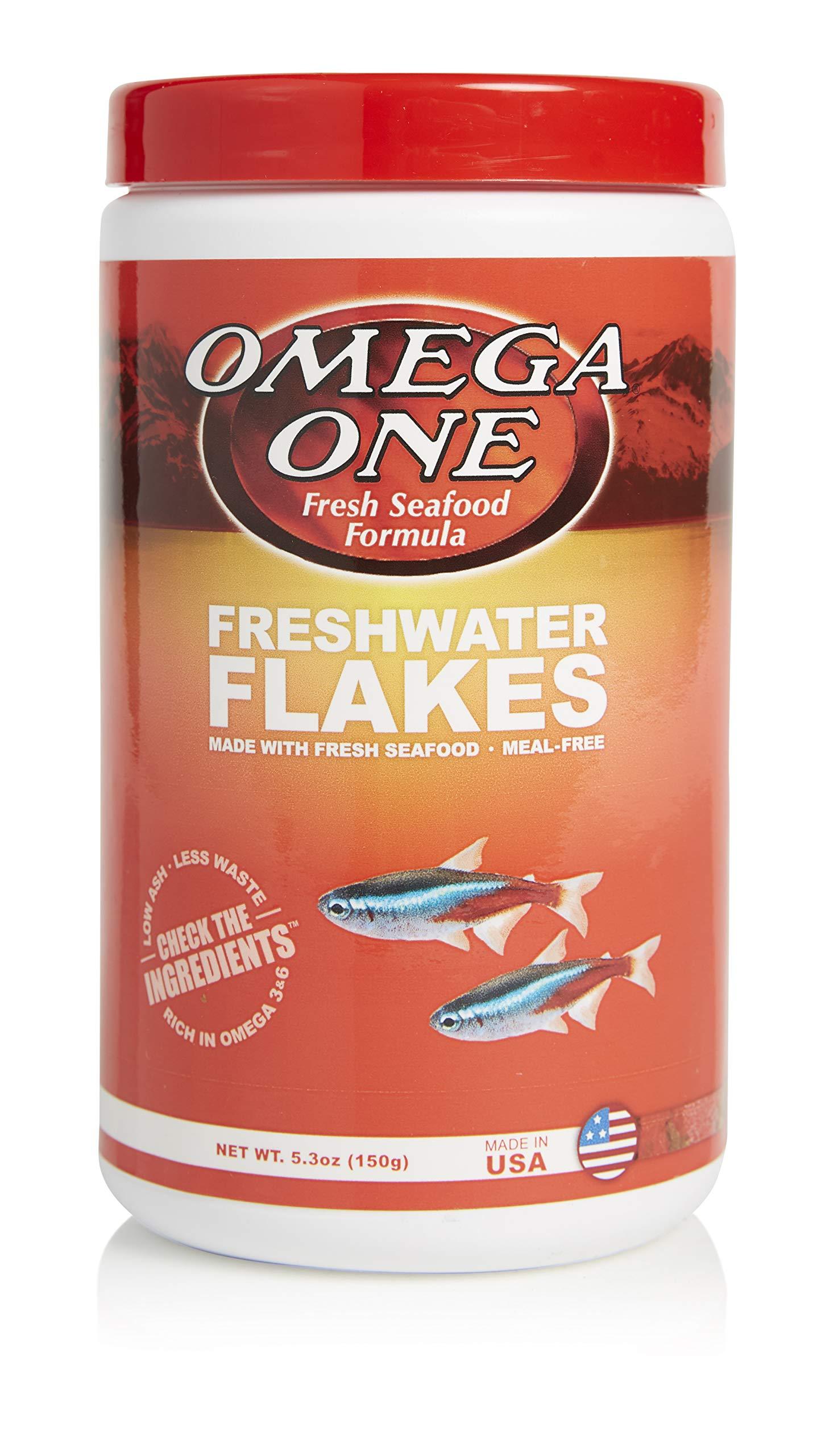 Omega One Freshwater Flakes, 5.3 oz by Omega One