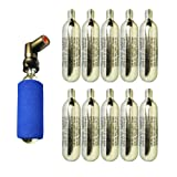 CO2 pump TWIST 'n GO - 2in1 Presta & Schrader Valve with 10 x Co2 Cartridges Included