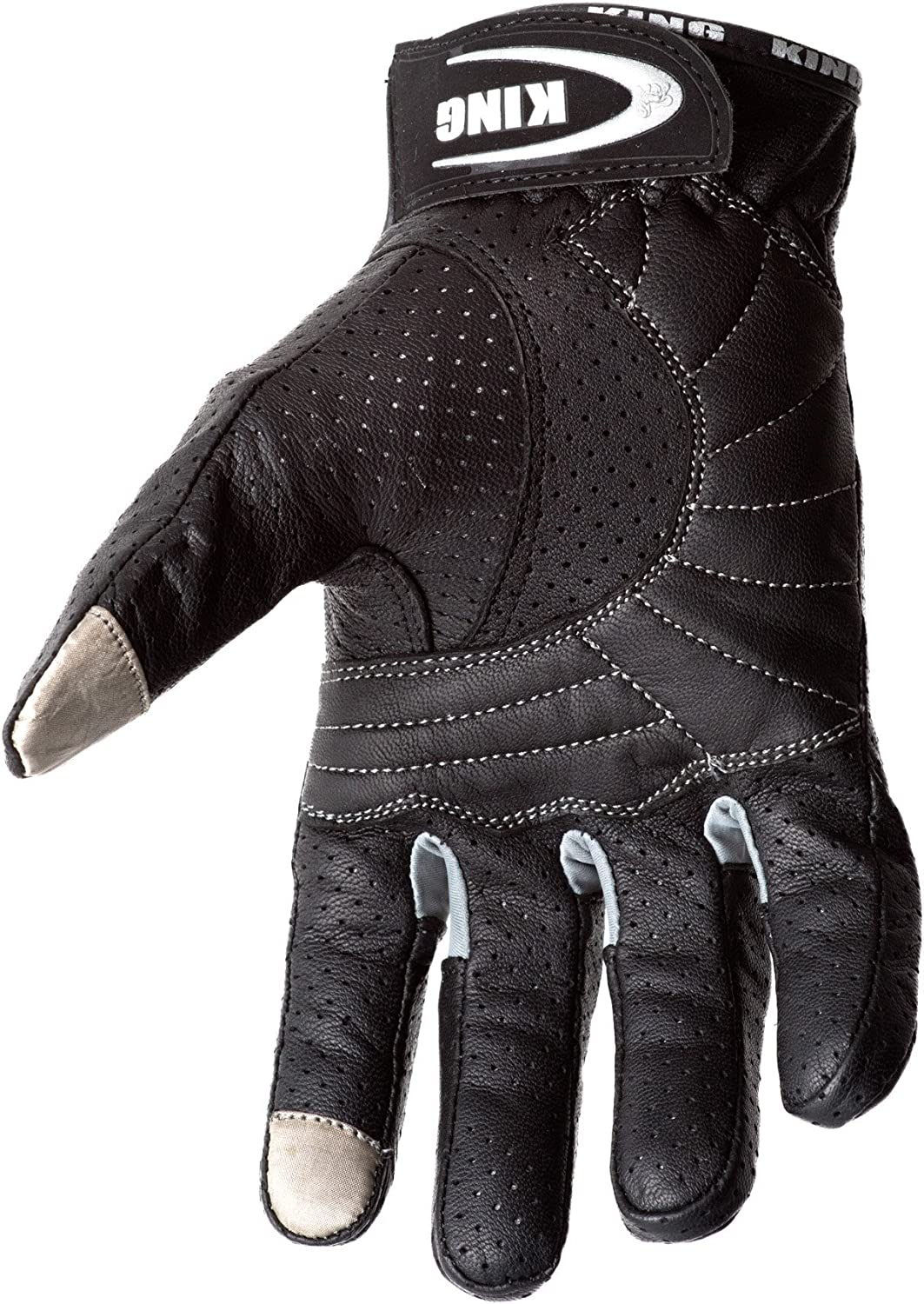 SWIFT Padded All Weather Feature for Men and Women Breathable Moisture Wick Air Flow Technology Between Fingers Motorcycle Biker Gloves Black Premium Leather Touchscreen Black-Sm