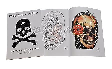 Tatuaje-libro - Remember Death - muertos cráneo (tatuaje Book de ...