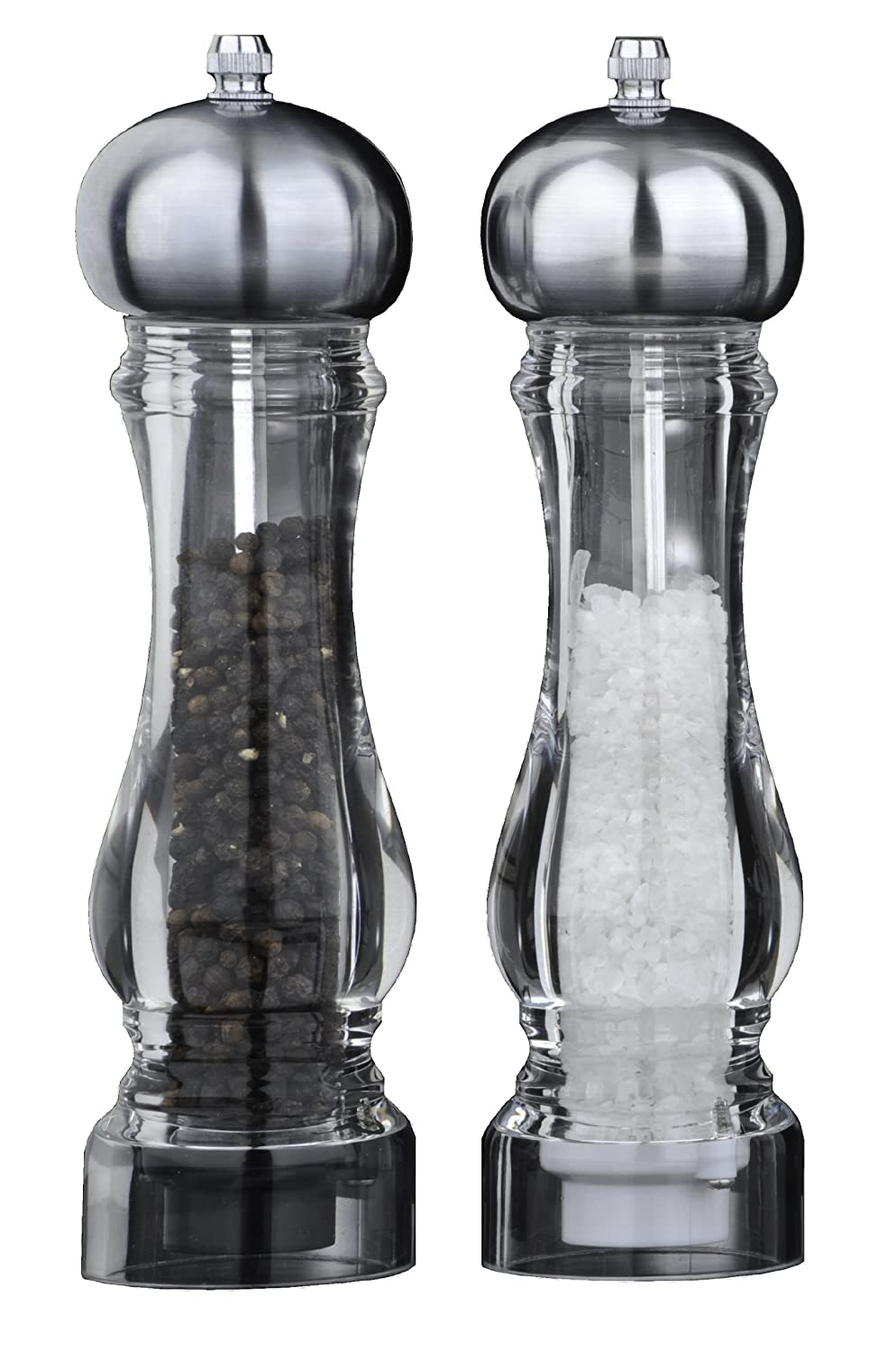 DMD King Salt and Pepper Mill Set with Chrome Plated Top DM1031106000SET