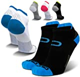Compression Running Socks for Men & Women - Low Cut Athletic Ankle Socks