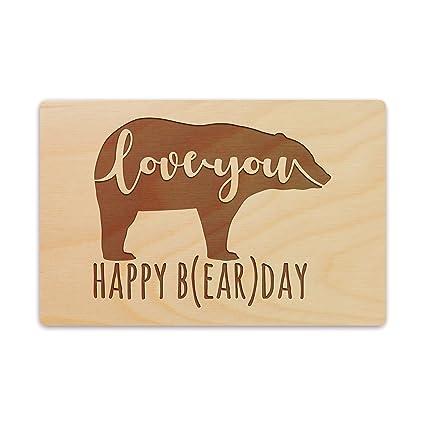 Happy Birthday Wooden Greeting Card Funny Valentine Boyfriend Gift
