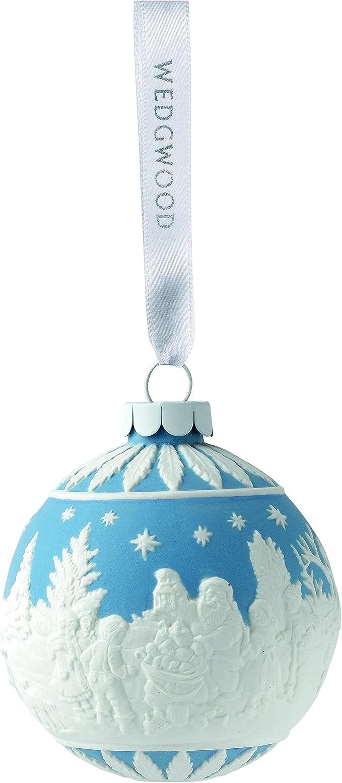 Wedgwood Addobbi Natale.Wedgwood Visiting Palle Di Natale Decorazione Per Albero Di Natale Blu Collezione 2016 Natale Amazon It Casa E Cucina