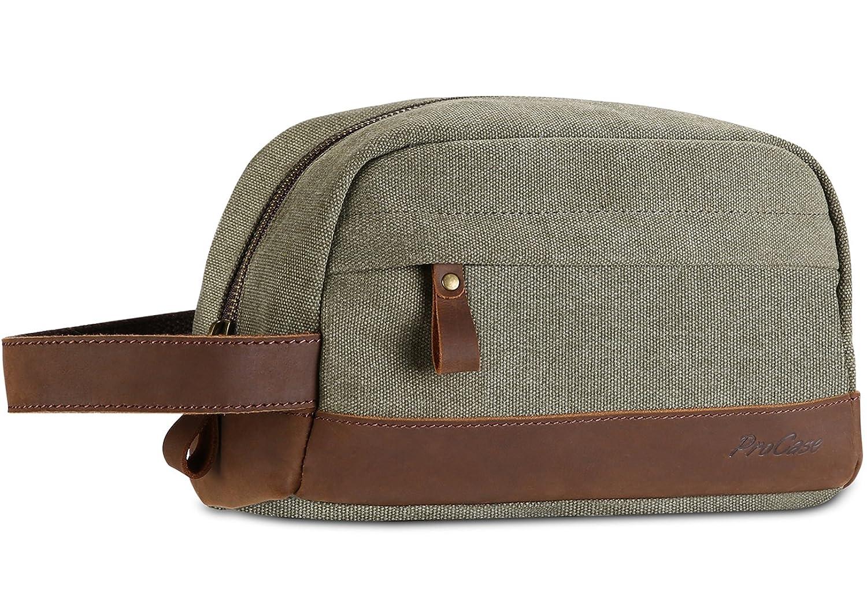 f1238ffa2a0a Amazon.com  ProCase Travel Shaving Dopp Kit Grooming Shaver Bag ...