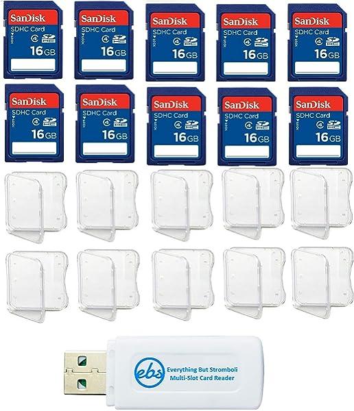 3 Jewel Cases Lot of 3 SanDisk 16GB SD SDHC Class 4 Flash Memory Camera Card SDSDB-016G-B35 Pack