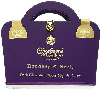 9f029cf086 Charbonnel et Walker Dark Chocolate Shoes in Purple Handbag Box 60 g   Amazon.co.uk  Grocery