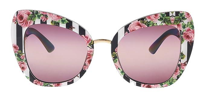 Dolce & Gabbana 0DG4319 Gafas de sol, Print Rose On Black ...