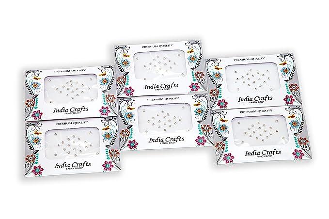 6 paquetes, 120 puntos plateados de cristal de estilo diamante ...