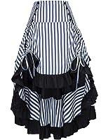 Belle Poque Striped Steampunk Gothic Victorian A Line Skirt Vintage Style BP000345