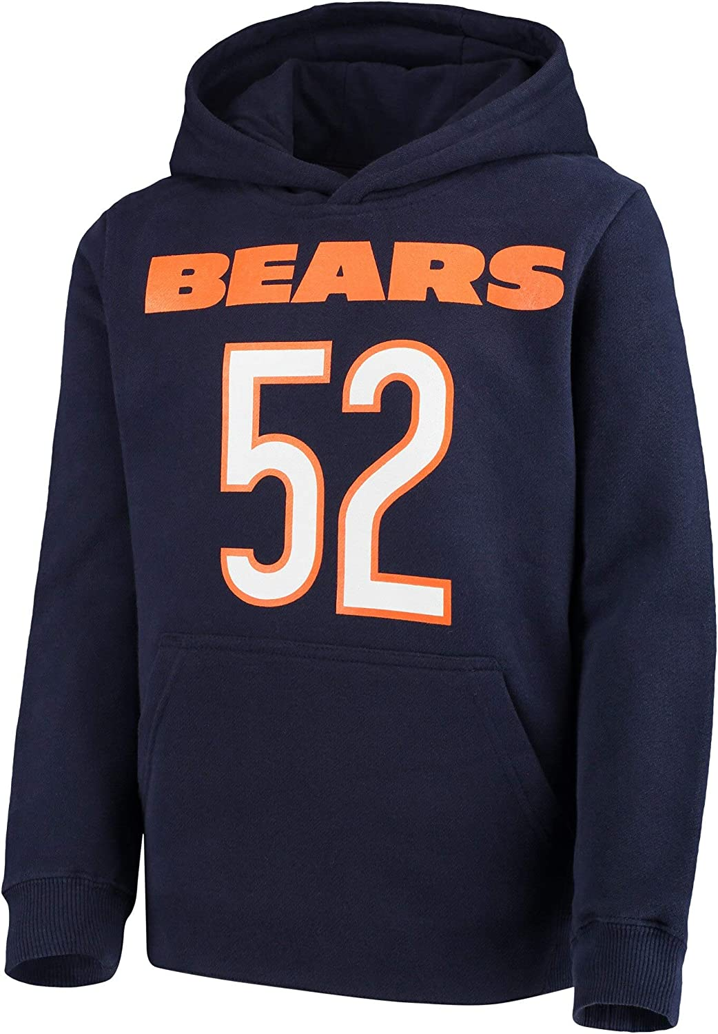 OuterStuff NFL Boys Youth 8-20 Mainliner Player Name /& Number Fleece Pullover Hoodie Sweatshirt