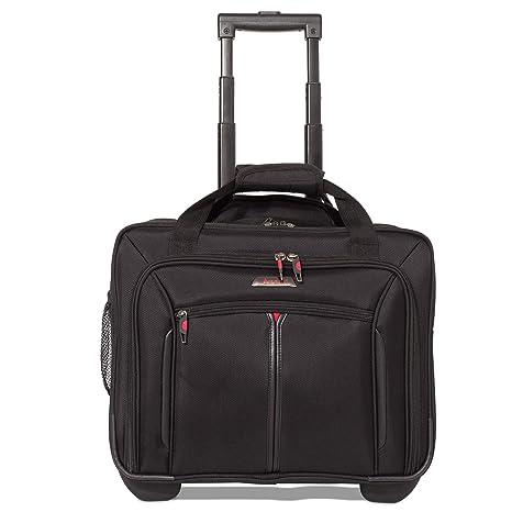 """90c6978e7 Aerolite 17"""" Trolley da Viaggio Borse da lavoro Borsa per portatile  con ruote Bagaglio a"""