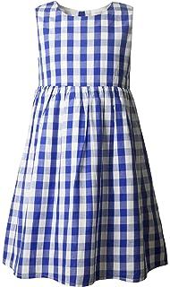 9a13e6d31f04 Ipuang Flower Girls  Casual Cotton Plaid Dress