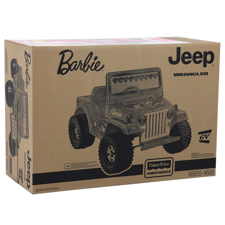 amazon com power wheels barbie jeep wrangler [amazon exclusive