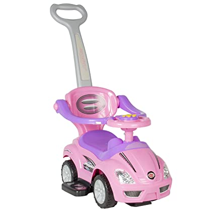 4153ba8f63e Image Unavailable. Image not available for. Color  Best Choice Products 3 -in-1 Kids Indoor Outdoor Push and Pedal Car Toddler