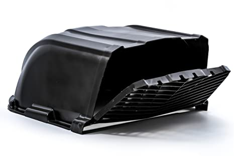 Roof Vent Covers >> Camco Black Xlt High Flow Roof Vent Cover Opens For Easy Cleaning Aerodynamic Design Easily Mounts To Rv With Included Hardware 40456