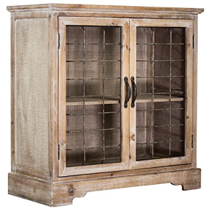 Attirant American Art Decor Rustic Shabby Chic Whitewashed Wood And Metal Standing  Storage Cabinet With Shelves
