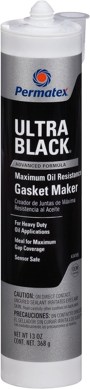 Permatex 24105 Ultra Black Maximum Oil Resistance RTV Silicone Gasket Maker, 13 oz.