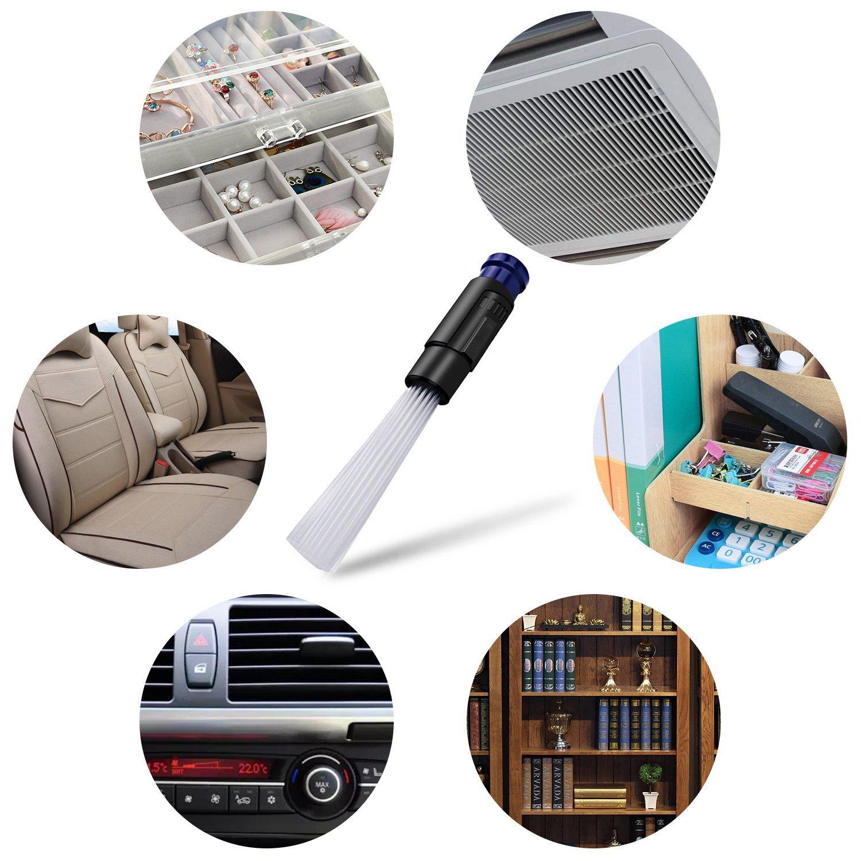 Staubsaugeraufsatz, Dust Bürste Mikrodüsenset für Staubsauger-Zubehör Universal Detaillierter Staubsauger-Ansatz für Polstermöbel, Autositze, Heizung Oder die Staubentfernung Empfindlichen Gegenständen