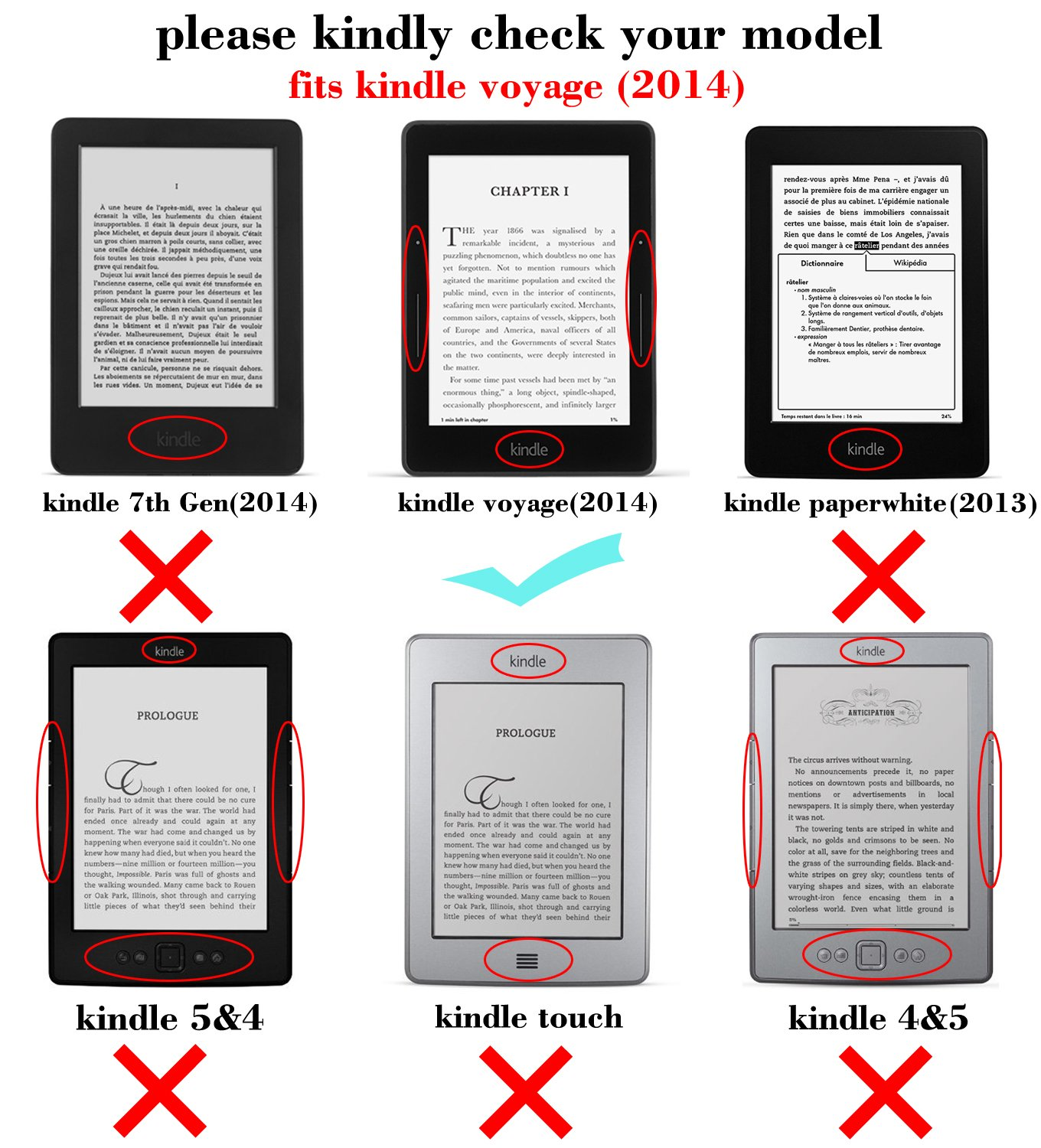Mulbess - Amazon Kindle Voyage 6