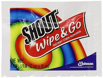 Shout quitamanchas Wipes, 12 Count paquetes 00690346000200, Paquete de 3, ...
