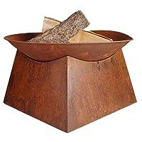 Feuerschale XXL Corten bronze Fire Bowl ✔ rund ✔ rostig (Edelrost)