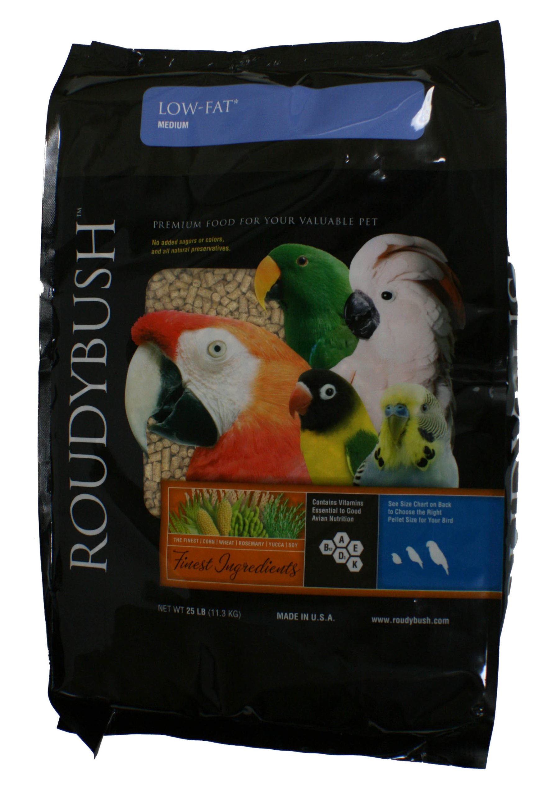 Roudybush Low Fat Bird Food, Medium, 25-Pound