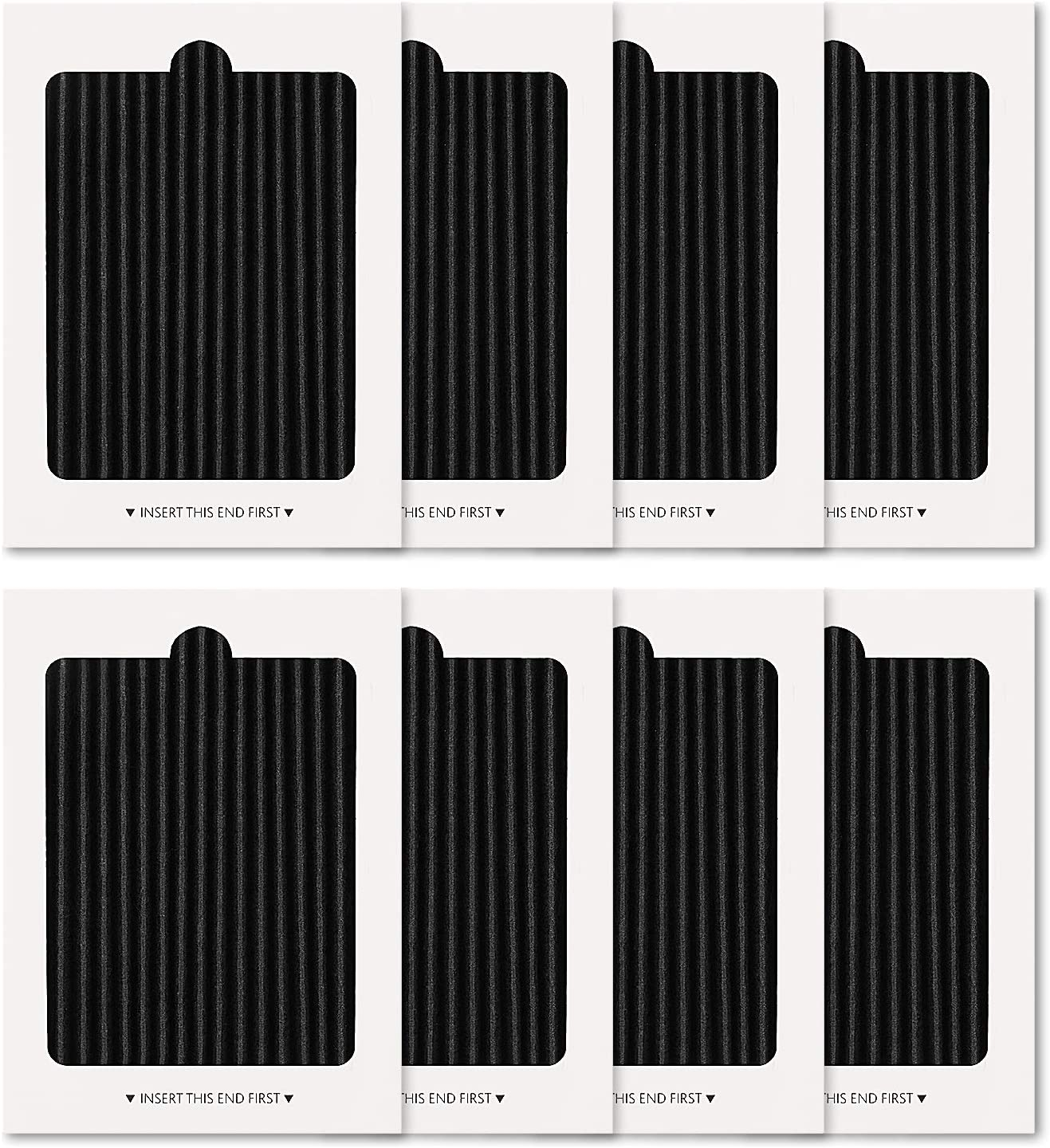 LINNIW 8 Pack Refrigerator Air Filter Replacement, Compatible with SCPUREAIR2PK, EAFCBF PAULTRA 242047801, 242061001, 7241754001