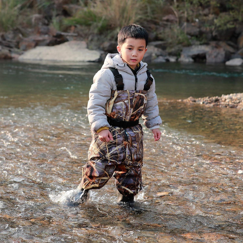 【特別訳あり特価】 Neygu幼児用&子供の通気性防水Waders Bootfoot胸Waders、4t B078H8NTND、カモ B078H8NTND, Eimys World:da288c83 --- a0267596.xsph.ru