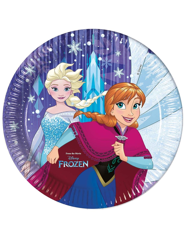 COOLMP - Juego de 12 Platos de cartón Frozen de Frozen, 23 ...