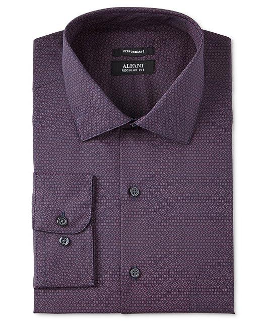 0ad7078fe Alfani Mens Gingham Regular Fit Button-Down Shirt at Amazon Men s Clothing  store