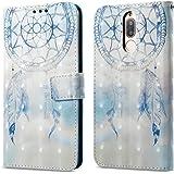 Ooboom® Huawei Mate 10 Lite Custodia 3D Magnetico Libro Flip in Pelle PU Cuoio Case Cover con Funzione di Appoggio e Supporto per Huawei Mate 10 Lite - Acchiappasogni Blu