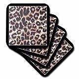 3dRose LLC Black Frame Leopard Print Animal Prints