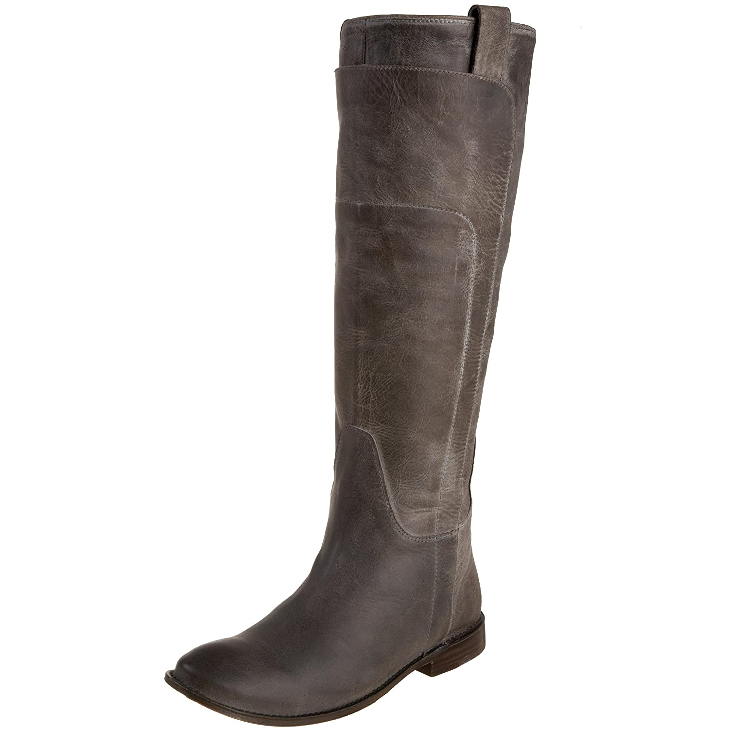 FRYE Women's Paige Tall Riding Boot B001VNBL0S 8 B(M) US|Grey Burnished Leather-77534