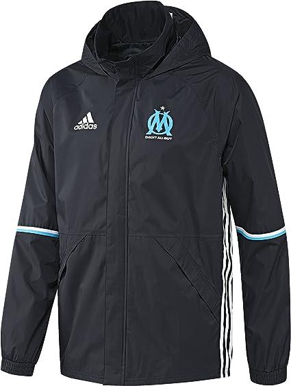 adidas Om Rain JKT Veste pour Homme, NoirBlancBleu XS