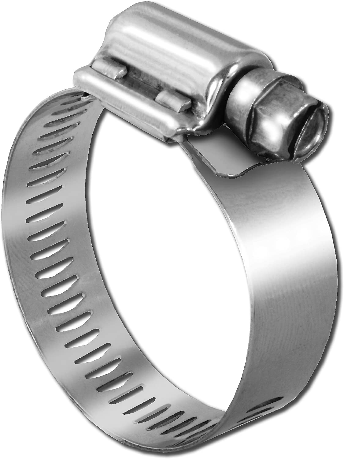 2-Pack Pro Tie 33601 SAE Size 028 Range 1-5//16-Inch-2-1//4-Inch Very Heavy Duty All Stainless Hose Clamp