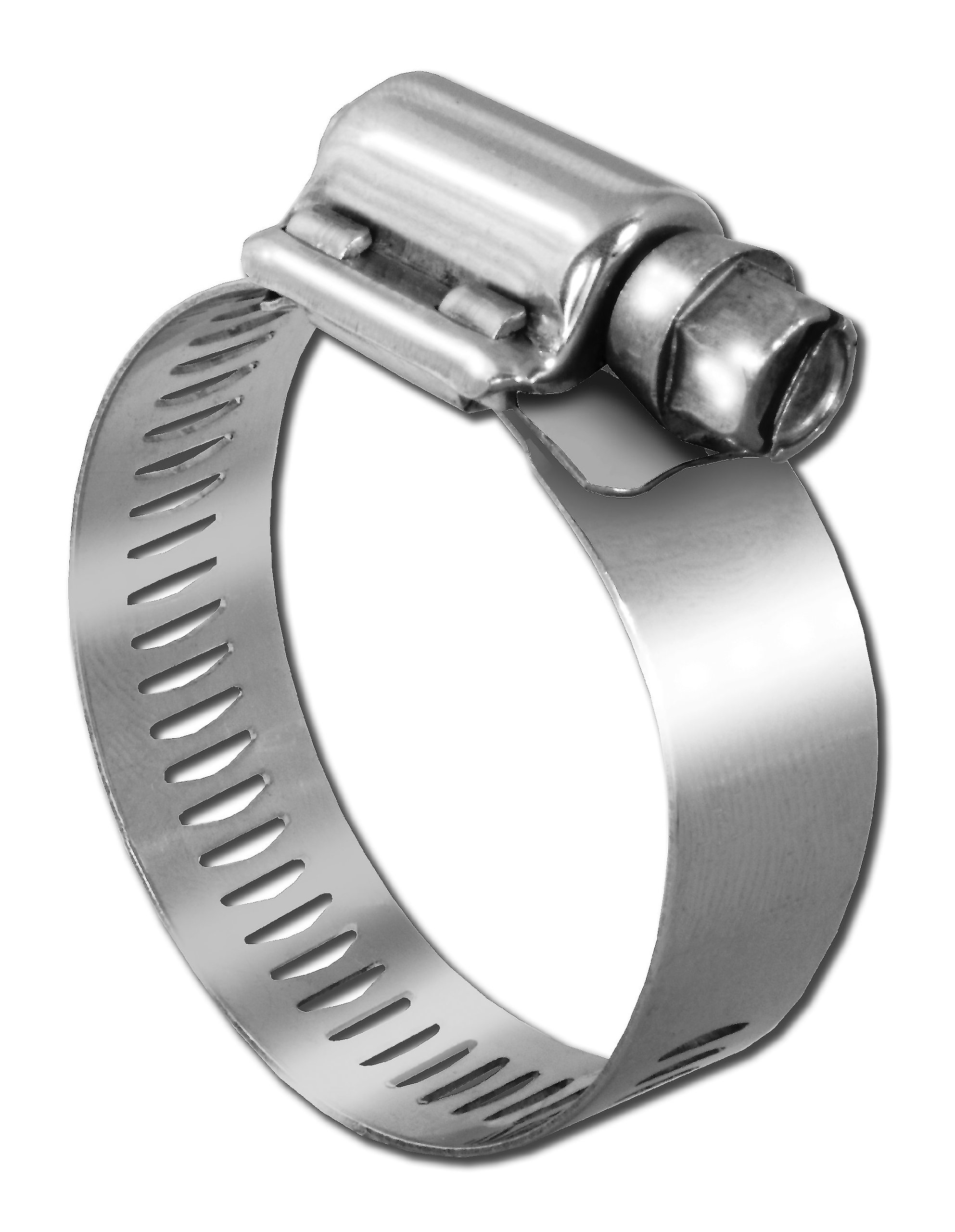 Pro Tie 33614 SAE Size 096 Range 5-1/2-Inch-6-1/2-Inch Very Heavy Duty All Stainless Hose Clamp, 2-Pack