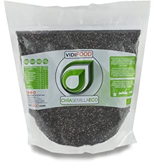 Semillas de Chía ECO Naturales - 1 kg - Certificado Ecológico - Alta Calidad - Fuente