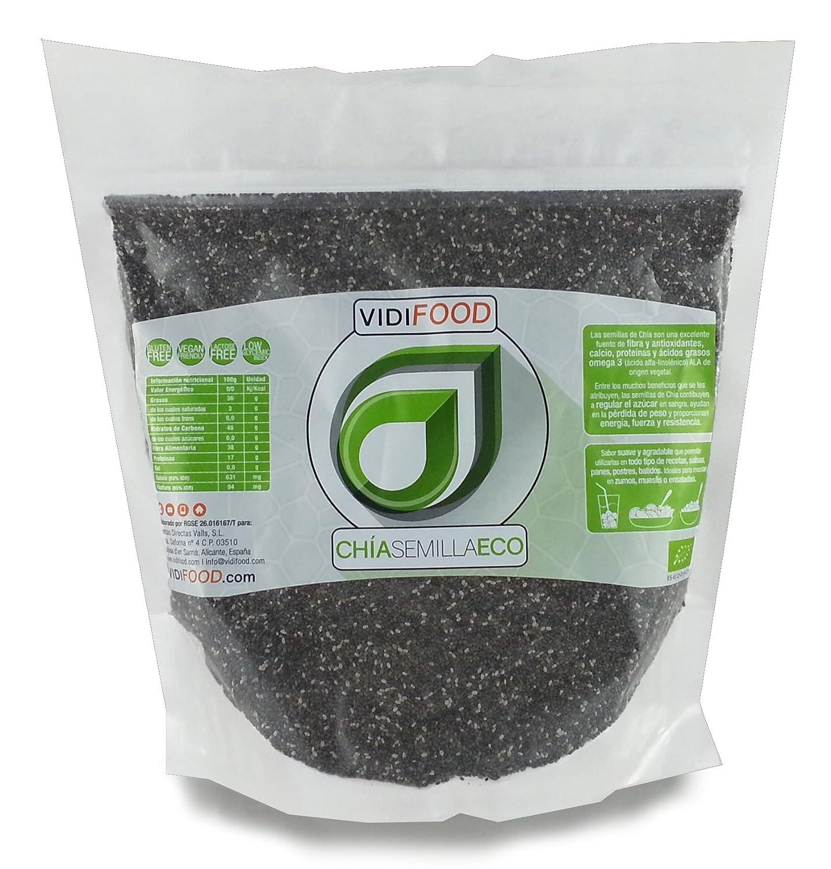 Semillas de Chía ECO Naturales - 1 kg - Certificado Ecológico - Alta Calidad - Fuente Rica de Omega-3, Fibra y Proteínas - Completamente Natural, Sin ...