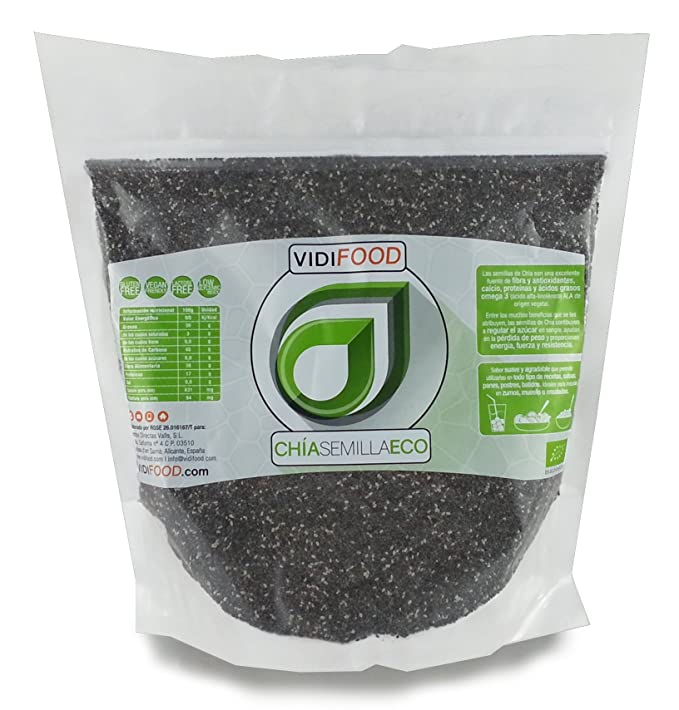 Semillas de Chía ECO Naturales - 1 kg - Certificado Ecológico ...