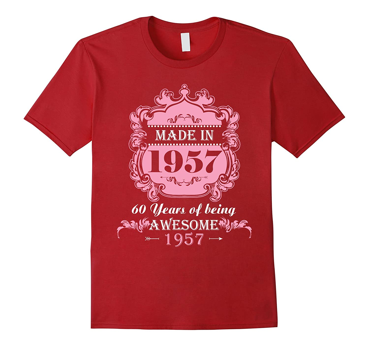 Made In 1957 T Shirt 60 Years Old 60th Birthday Gift CD