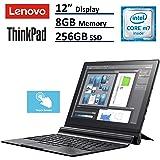 "Lenovo ThinkPad X1 2-in-1 Tablet Laptop (12"" (2160x1440) IPS FHD+ Touchscreen, Intel Core m7-6Y75, 256GB SSD, 8GB RAM,  Detachable Keys, Only 1.7lbs, Windows 10 Professional)"