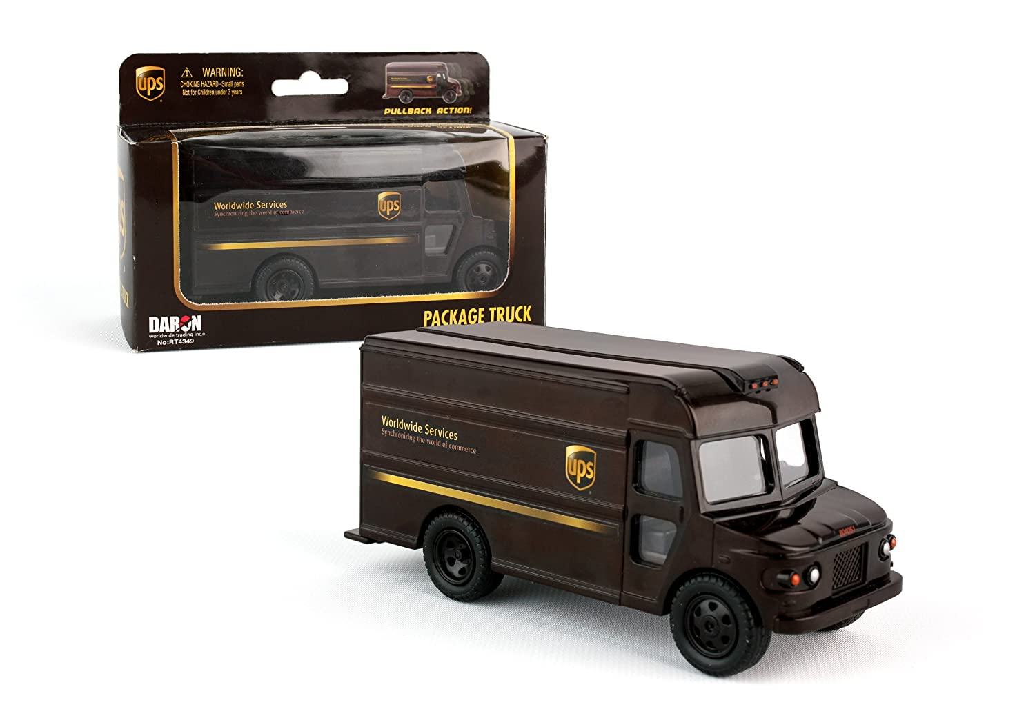 Amazon.com: Daron UPS Pullback Package Truck: Toys & Games