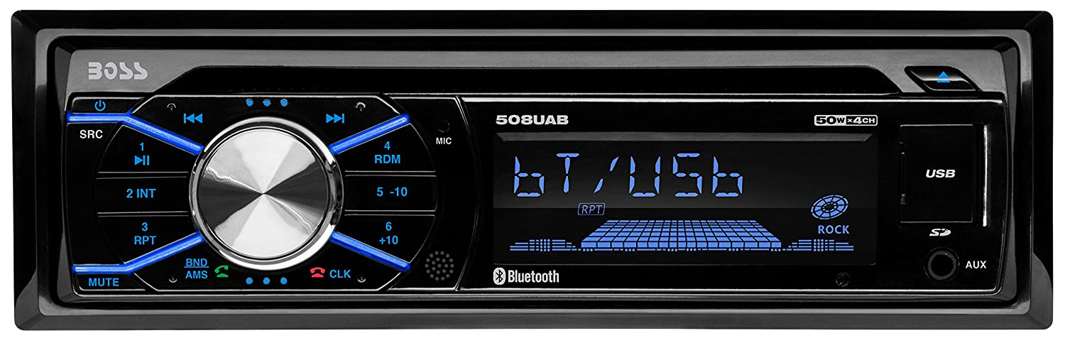 8120MCptZKL._SL1500_ amazon com boss audio 508uab single din, bluetooth, cd mp3 wms boss 508uab wiring diagram at couponss.co