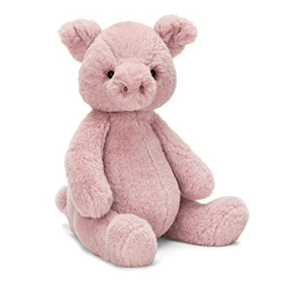 Jellycat Puffles Piglet Stuffed Animal, 13 inches: Toys & Games